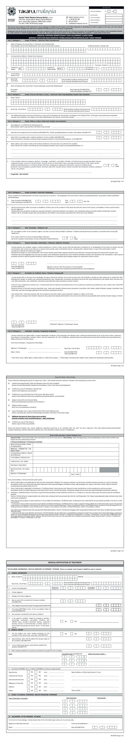 MPI Generali Personal Accident Claim Form
